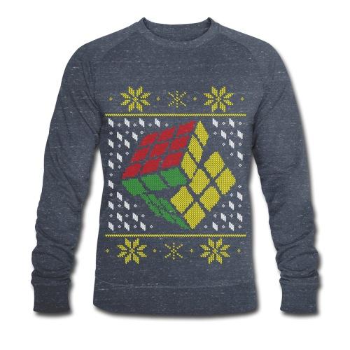 Rubik's Cube Ugly Christmas - Men's Organic Sweatshirt by Stanley & Stella