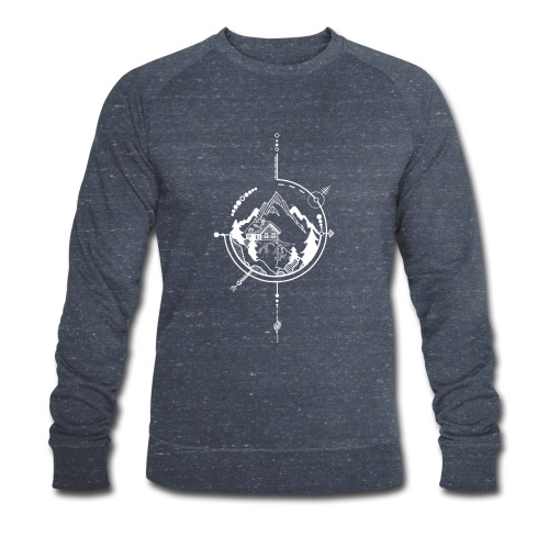 Cabin in the mountains - Mannen bio sweatshirt van Stanley & Stella