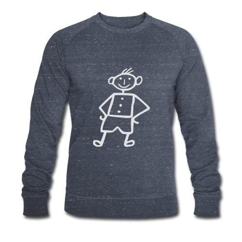 me-white - Männer Bio-Sweatshirt