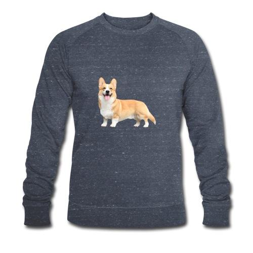 Topi the Corgi - Sideview - Men's Organic Sweatshirt by Stanley & Stella