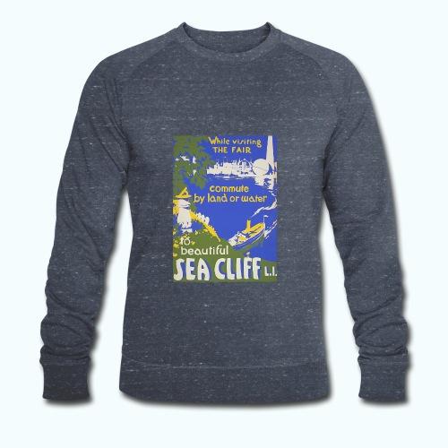 Lake travel vintage poster - Men's Organic Sweatshirt by Stanley & Stella