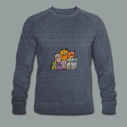 Katzenbande - Männer Bio-Sweatshirt von Stanley & Stella