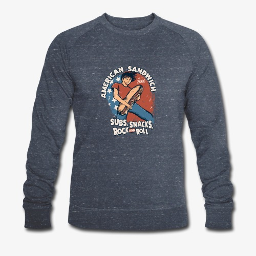 American Sandwich Rocker auf Farbe - Männer Bio-Sweatshirt