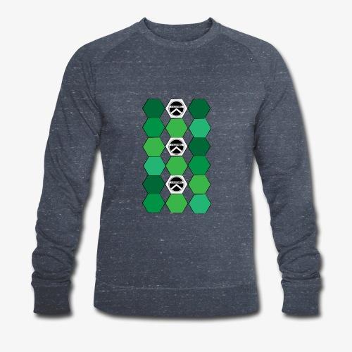 |K·CLOTHES| HEXAGON ESSENCE GREENS & WHITE - Sudadera ecológica hombre
