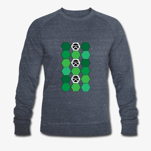 |K·CLOTHES| HEXAGON ESSENCE GREENS & WHITE - Sudadera ecológica hombre de Stanley & Stella