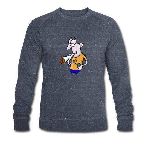 Kiffer Karikatur mit Joint und Bier in der Hand - Männer Bio-Sweatshirt von Stanley & Stella
