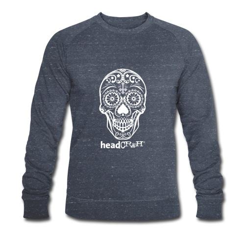 Skull & Logo white - Männer Bio-Sweatshirt