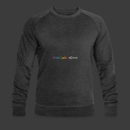 rainbow for dark background - Men's Organic Sweatshirt