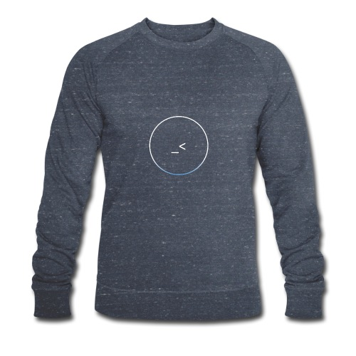 White and white-blue logo - Men's Organic Sweatshirt by Stanley & Stella