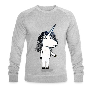 Angry unicorn - Men's Organic Sweatshirt by Stanley & Stella