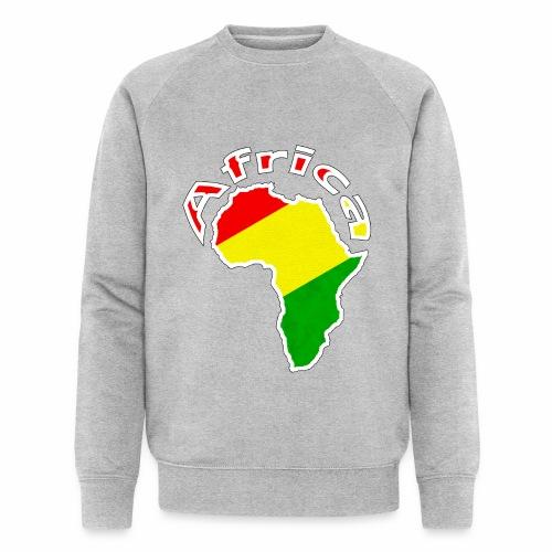 Afrika - rot gold grün - Männer Bio-Sweatshirt von Stanley & Stella