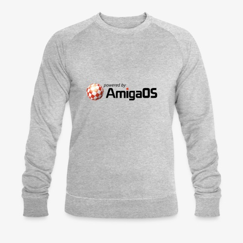 PoweredByAmigaOS Black - Men's Organic Sweatshirt by Stanley & Stella