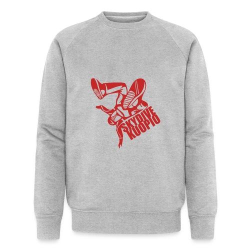 KLU logo red - Stanley & Stellan miesten luomucollegepaita