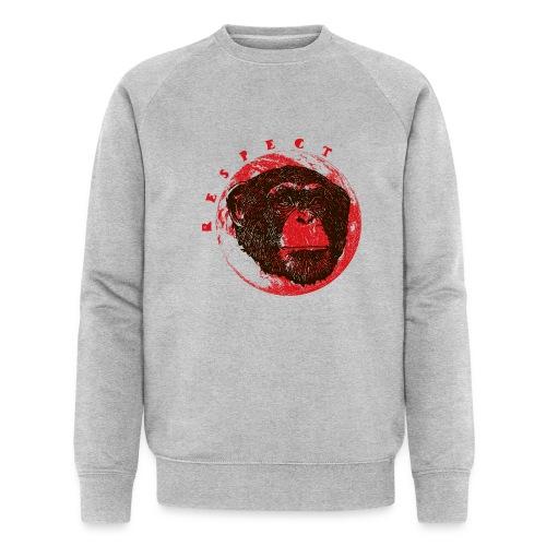 Respect chimpanze - Sweat-shirt bio Stanley & Stella Homme