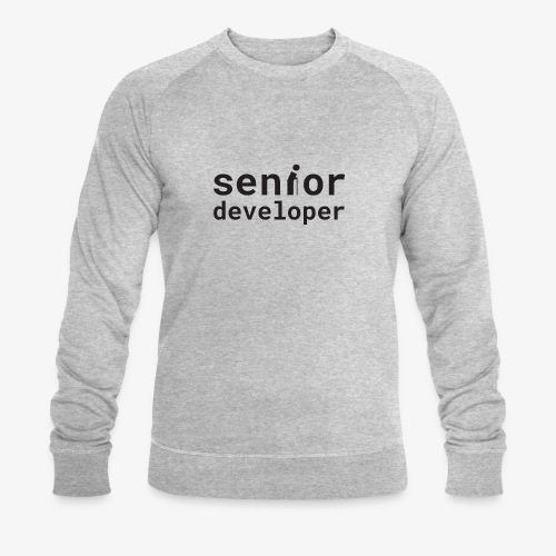 Senior developer | programmer jokes - Men's Organic Sweatshirt by Stanley & Stella