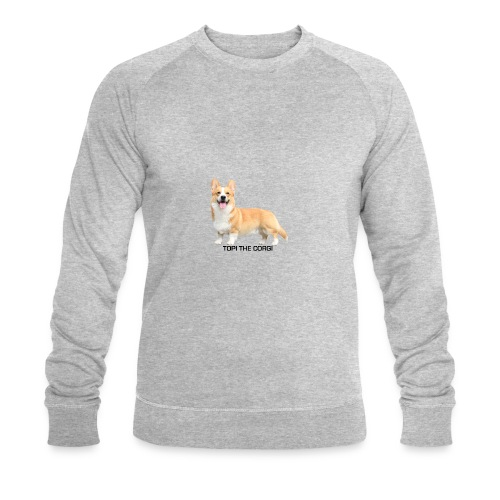 Topi the Corgi - Black text - Men's Organic Sweatshirt by Stanley & Stella