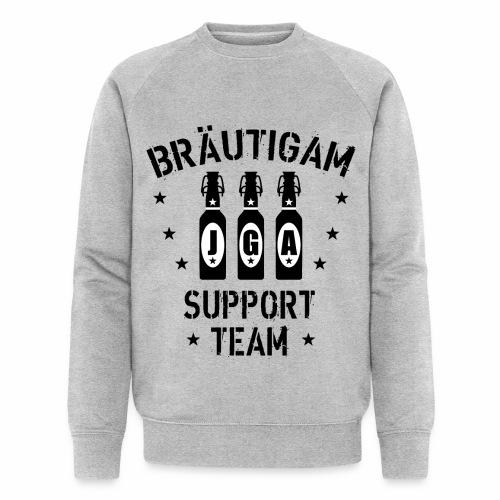 03 JGA Bierflaschen Bräutigam Support Team - Männer Bio-Sweatshirt