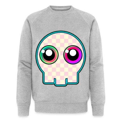dödskalle rosa mycket söt tecknad stil - Men's Organic Sweatshirt by Stanley & Stella