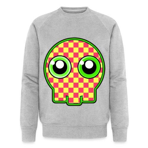 gullig dödskalle med gröna ögon - Men's Organic Sweatshirt by Stanley & Stella