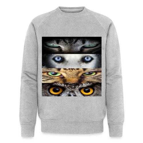 eyes cats - Sweat-shirt bio Stanley & Stella Homme