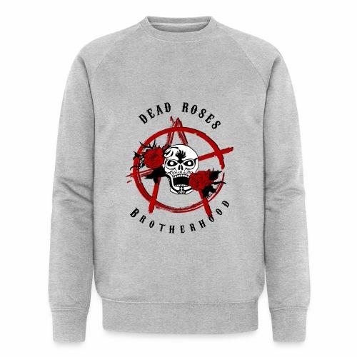 Dead Roses Anarchy Skull Black - Men's Organic Sweatshirt by Stanley & Stella