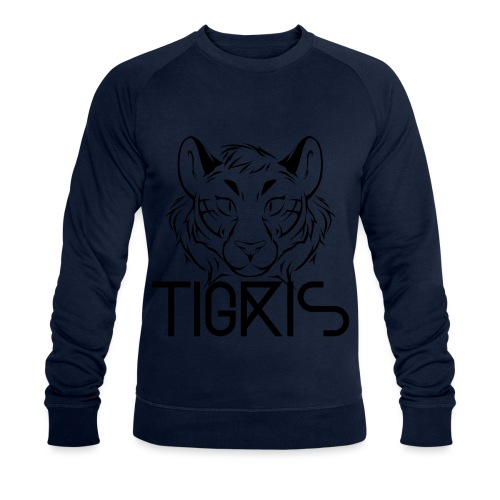 Tigris Logo Picture Text Black - Men's Organic Sweatshirt by Stanley & Stella