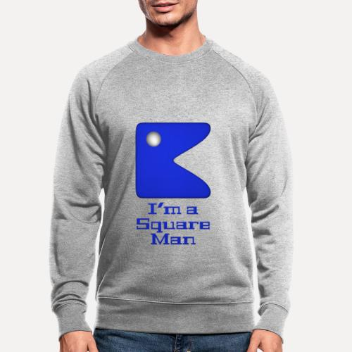 Square man blue - Men's Organic Sweatshirt