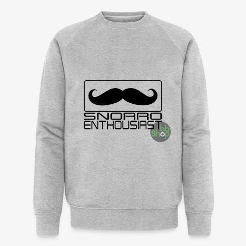Snorro enthusiastic (black) - Men's Organic Sweatshirt