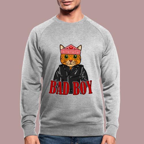 Bad boy chat roux rockeur - Sweat-shirt bio