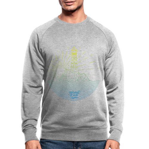Leuchtturm mit Sonne am Meer - Männer Bio-Sweatshirt von Stanley & Stella
