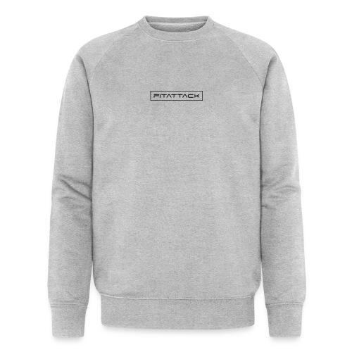 fitattack schrift rahmen eckig - Männer Bio-Sweatshirt