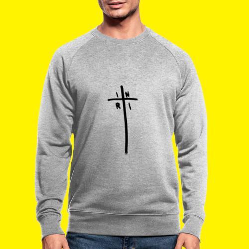 Cross - INRI (Jesus of Nazareth King of Jews) - Men's Organic Sweatshirt
