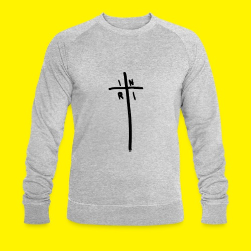 Cross - INRI (Jesus of Nazareth King of Jews) - Men's Organic Sweatshirt by Stanley & Stella