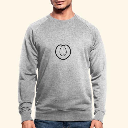 fruits and veggies icons peach 512 - Økologisk sweatshirt til herrer