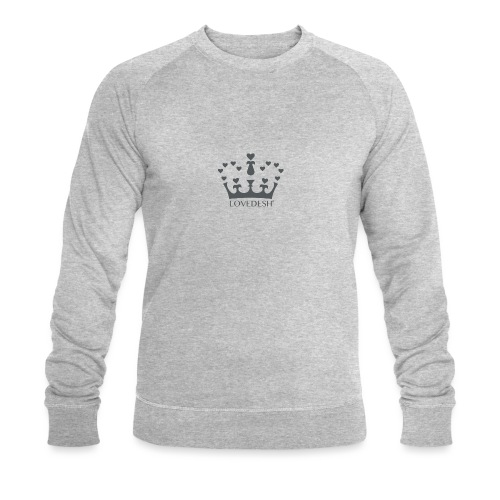LD crown logo hearts png - Men's Organic Sweatshirt by Stanley & Stella