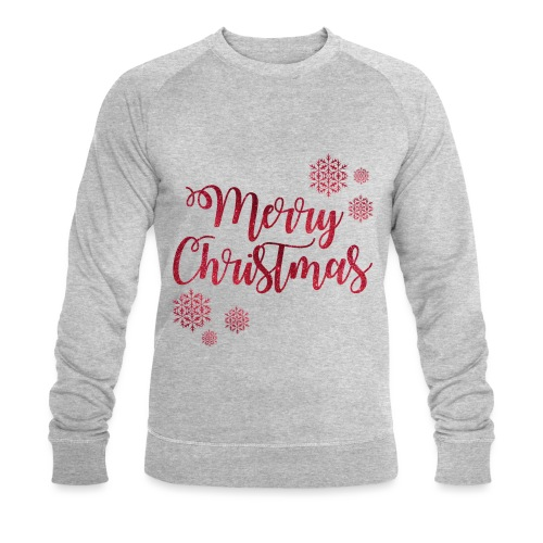 Merry christmas Noël New shape fane design vintage - Sweat-shirt bio Stanley & Stella Homme