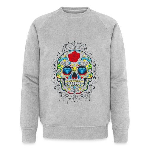 Rose und Diamantschädel - Männer Bio-Sweatshirt von Stanley & Stella