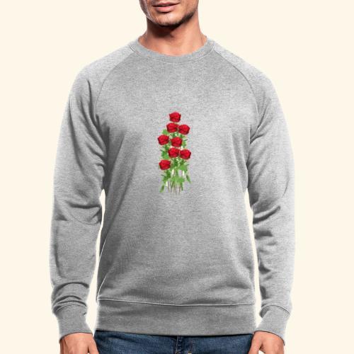 rote rosen - Männer Bio-Sweatshirt