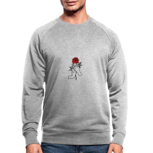 Fiore rosso - Felpa ecologica da uomo