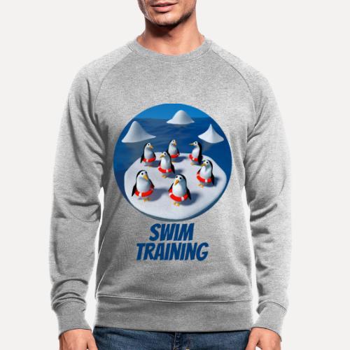 Pinguine beim Schwimmunterricht - Men's Organic Sweatshirt
