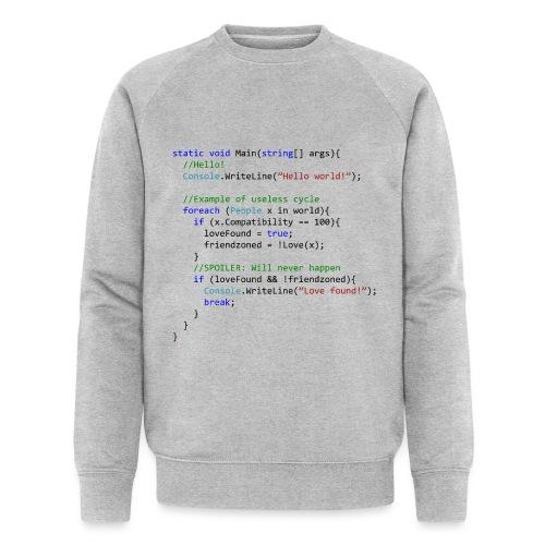 Love seen by a C# programmer - Felpa ecologica da uomo di Stanley & Stella