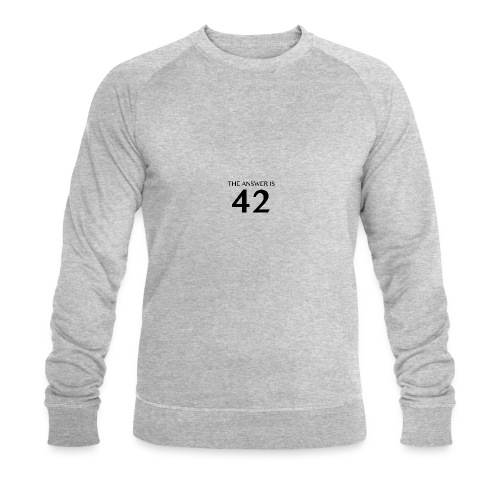 The Answer is 42 Black - Men's Organic Sweatshirt by Stanley & Stella