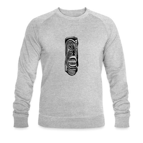 Tiki Totem Pole Face - Men's Organic Sweatshirt by Stanley & Stella