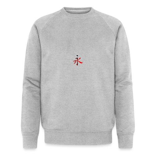 Kinesisk Bogstav Rød/Sort på Brystkassen - Økologisk sweatshirt til herrer