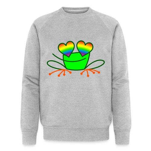 Pride Frog in Love - Men's Organic Sweatshirt by Stanley & Stella