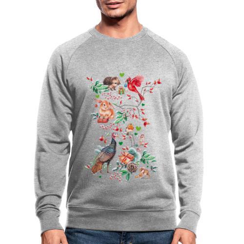 Happy vegan holidays! - Men's Organic Sweatshirt