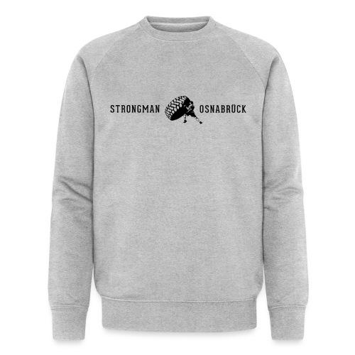 Strongman Logo schwarz - Männer Bio-Sweatshirt von Stanley & Stella