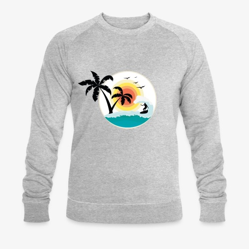 Surfing in paradise - Männer Bio-Sweatshirt von Stanley & Stella
