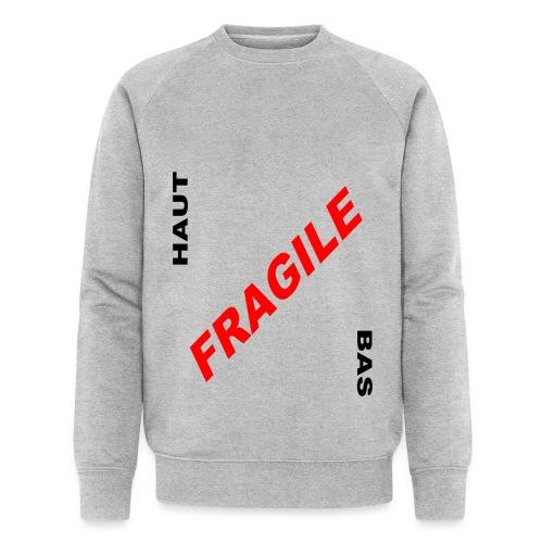 FRAGILE - Sweat-shirt bio Stanley & Stella Homme