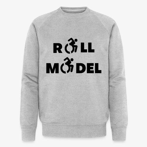 Elke rolstoel gebruiker is een roll model - Mannen bio sweatshirt van Stanley & Stella